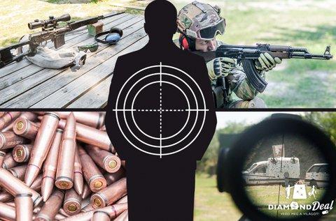 60 lövés AK47-tel + 20 lövés Dragunov puskával