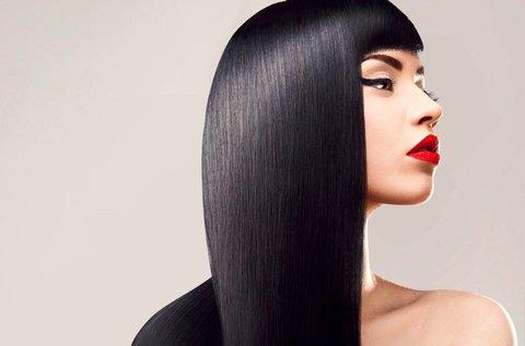 Botoxos hajkezelés vágással és szárítással