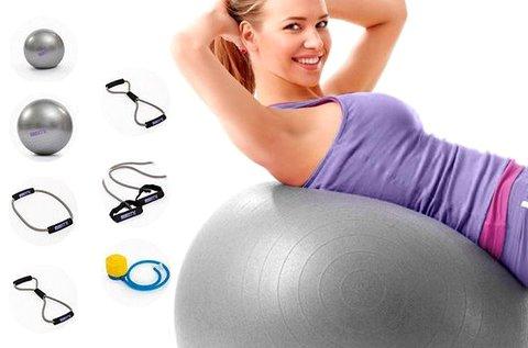 BTK otthoni edzőszett fitness labdával, súllyal
