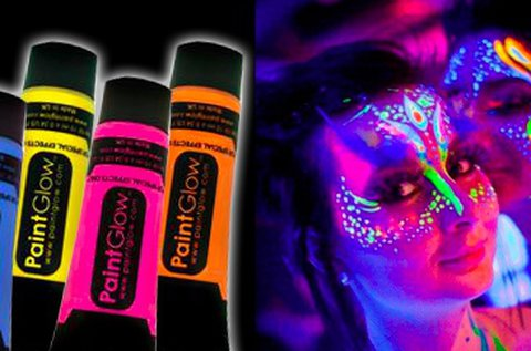 Világító neon arc- és testfestő tubus