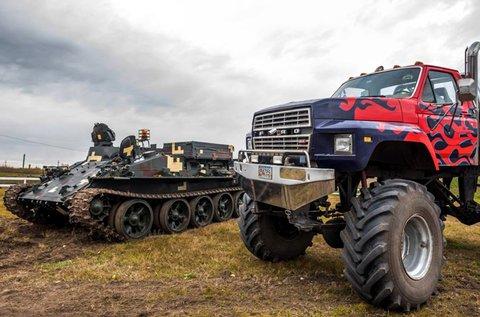 Tank és Monster Truck Big Foot vezetés Gyálon