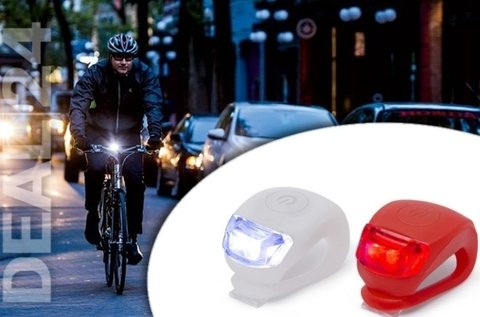 Szilikon borítású LED bicikli lámpa szett