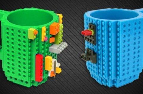 Lego bögre 350 ml-es űrtartalommal, kék színben