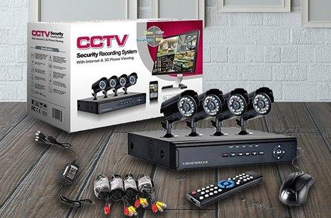 4 kamerás éjjellátó megfigyelő rendszer