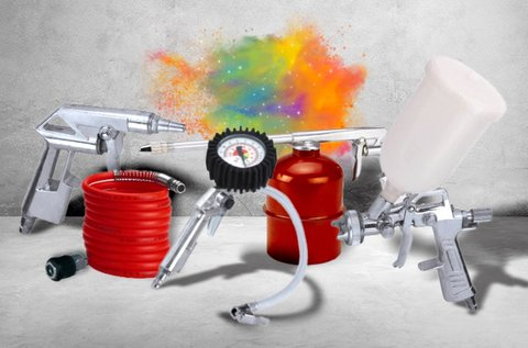 Einhell 5 részes levegős festékszóró készlet