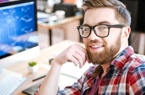 Monitorszűrős komplett szemüveg divatos kerettel