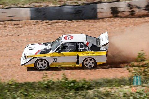 3 körös Audi S1 rallyautó vezetés Nyirádon