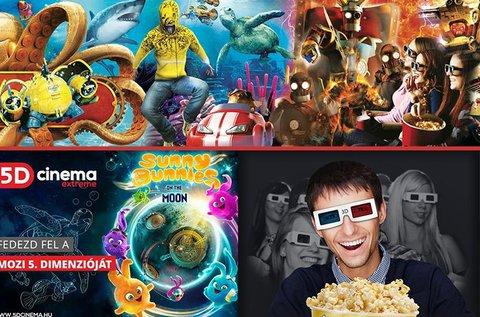 5D mozi belépő 2 fő részére