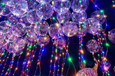 Világító LED lufi tartós anyagból