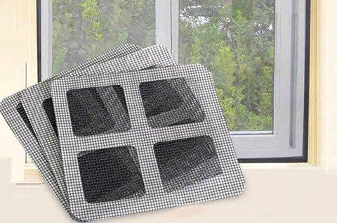 6 db szúnyogháló javító folt szürke színben