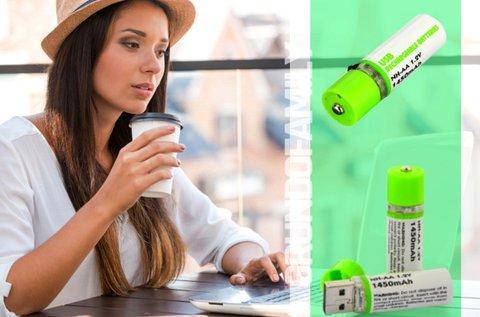 2 db USB-ről tölthető energiaforrás LED fénnyel