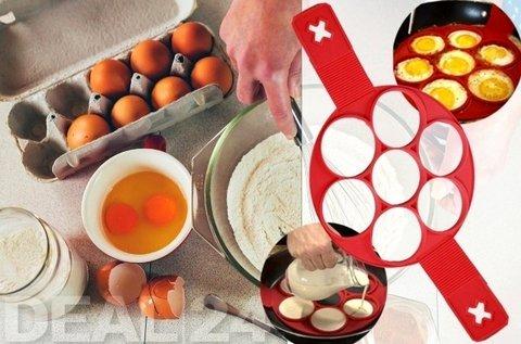 Szilikon palacsinta- és tojássütő forma
