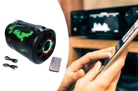Hordozható bluetooth hangszóró LED világítással
