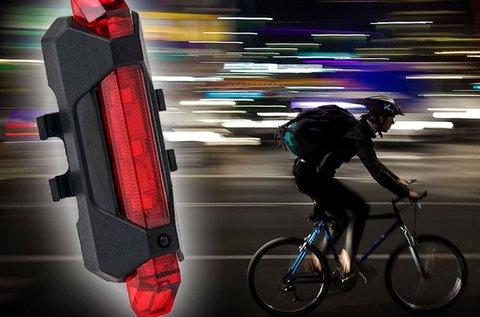 USB töltős kerékpár lámpa vízálló tokban