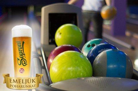 2 óra bowlingozás + sörözés 6 főnek
