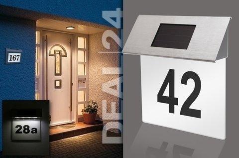 Napelemes LED házszámtábla