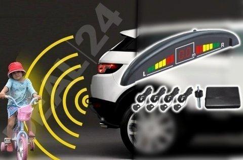 4 szenzoros tolatóradar digitális távolság kijelzővel