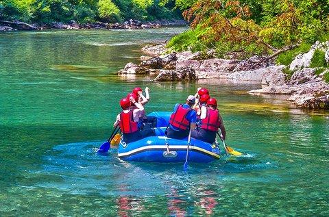 Vadvízi rafting a Soca-folyón, Szlovéniában