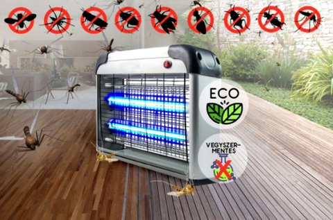 Elektromos UV LED-es szúnyog- és rovarcsapda