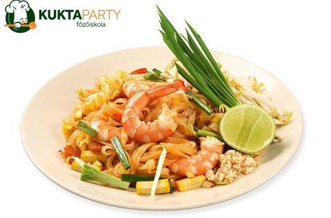 Pad thai főzőkurzus italfogyasztással 1 főnek