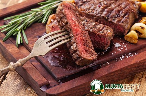 Steakre vágyva főzőkurzus italfogyasztással 1 főnek