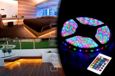 5 m-es vízálló RGB LED szalag szett