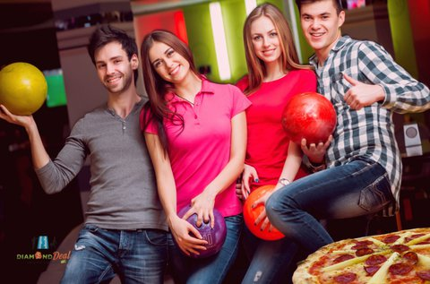 2 óra bowling akár 6 főnek, 1 választható pizzával
