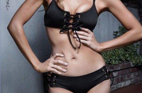Szabályozható push-up bikini melltartó és alsó rész