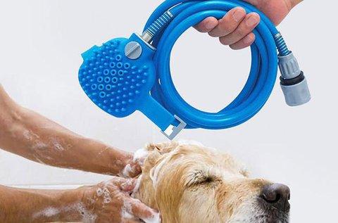 Csapra szerelhető kisállat fürdetőeszköz