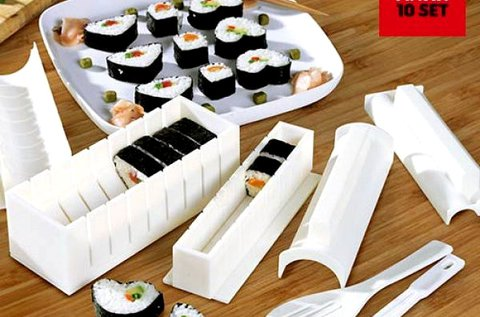 Sushi Matik sushi készítő szett formákkal, spatulával