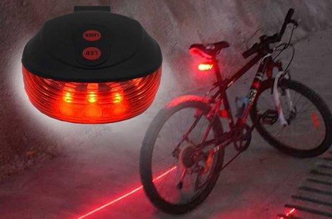 Lézeres hátsó kerékpár lámpa piros fénnyel