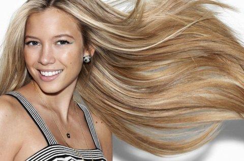 100 tincs 50 cm hosszú emberi haj felrakása