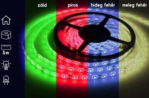 5 m-es vízálló dekorációs LED szalag