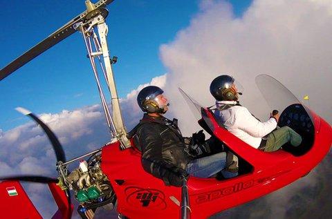 10 perces autogiro helikopteres repülés 1 főnek