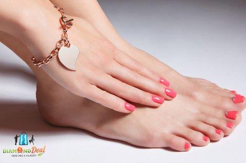 Géllakkozás kézre és lábra