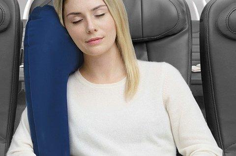 Ülésre rögzíthető felfújható párna utazáshoz