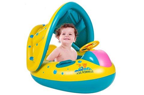 Felfújható gyerek csónak napellenzővel