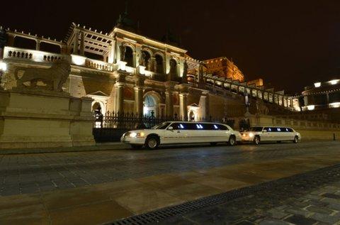 1 órás limuzin bérlés sofőrrel, 9 fő részére