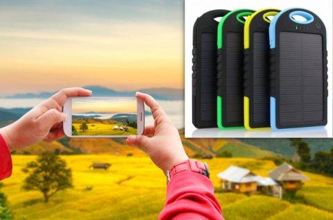 Napelemes akkumulátor telefon és tablet töltéshez