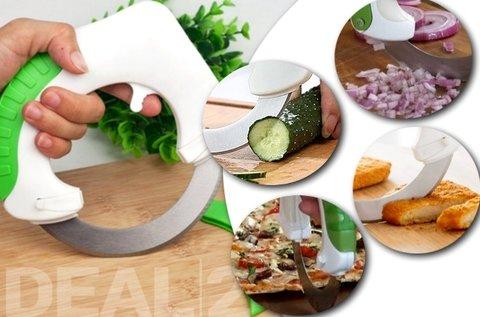 Roll 'n Cut kerek pizza -és zöldség szeletelő kés