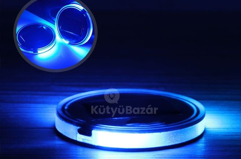 2 db poháralátét napelemes LED hangulatfénnyel