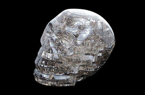 50 db-os 3D puzzle kristálykoponya LED fénnyel