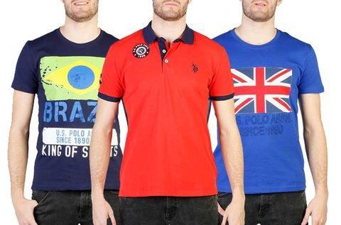 U.S. Polo Assn férfi pólók 100% pamut anyagból