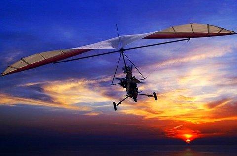 12 perces élményrepülés motoros sárkányrepülővel
