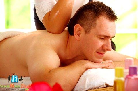 60 perces relaxációs, stresszoldó masszázs
