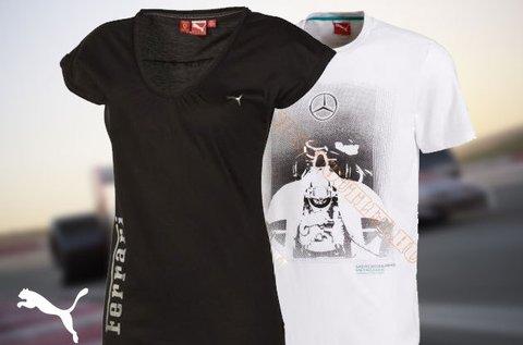 Puma motorsport női és férfi pólók és sapkák