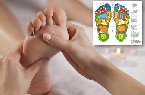 Talpreflexológiai kezelés talpmasszázzsal