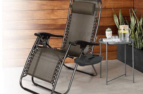 2 db-os zéró gravitáció kerti szék szett