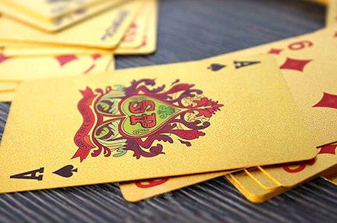 Luxus póker kártya pakli fekete vagy arany színben