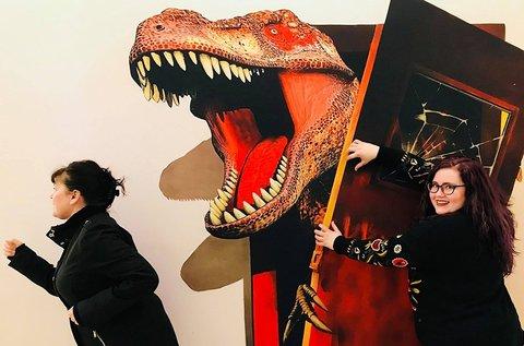 Páros belépő a 3D festmény kiállításra